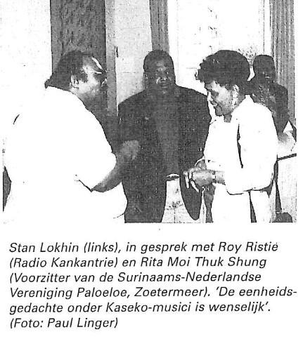 Stan Lokhin (links), in gesprek met Roy Ristie (Radio Kankantrie)