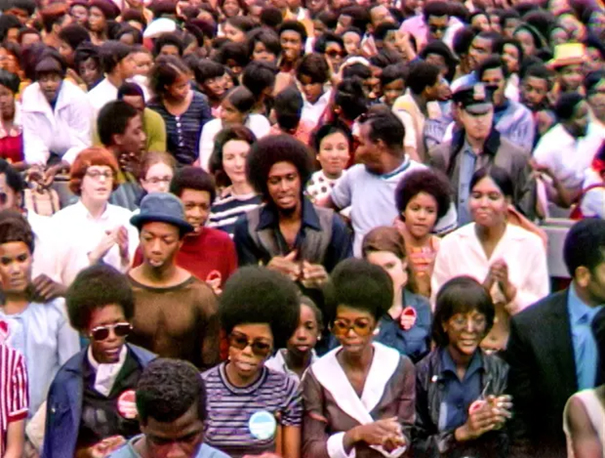 the audience of Summer of Soul 1969